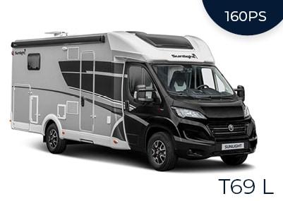 Teilintegriertes Wohnmobil T69 L Automatik 160 PS + Dachklima (4 Personen)