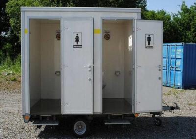 Kleiner WC-Anhänger (wintertauglich mit Rohrbegleitheizung)